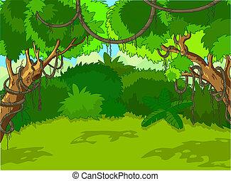 風景, 森林, 熱帶
