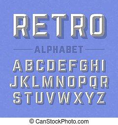 風格, 字母表, retro