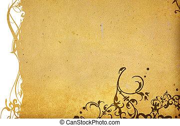 風格, 背景, 空間, 你, 質地, 植物, frame-with, 設計