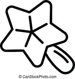 風格, outline, 圖象, 星, 玩具, 嬰孩