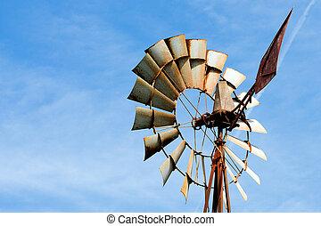 風車農場, 生鏽, 老, 鄉村