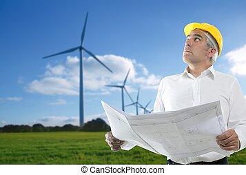 風車, 專門技能, 計劃, 建築師, 年長者, 工程師