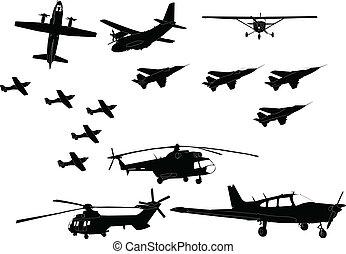 飛机, 矢量, -, 彙整
