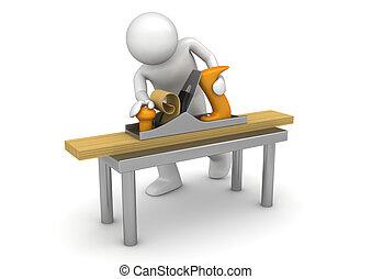 飛機, 木匠, 工作, 長凳