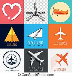 飛機, 矢量, 彙整