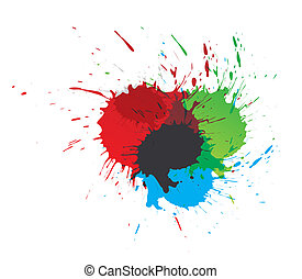 飛濺, 畫, 顏色