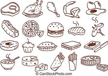 食物, 集合, 圖象