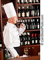 餐館, 廚師, 玻璃, 烹調, 氣味, 酒