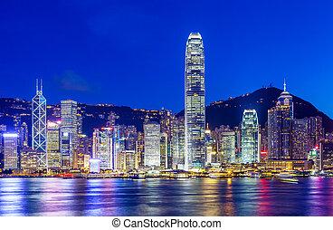 香港, 地平線, 夜晚