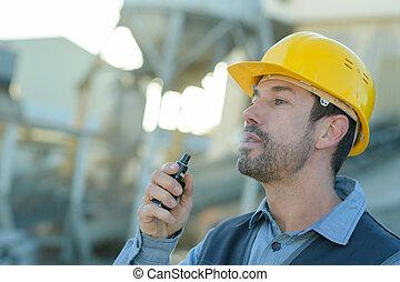 香煙, 建造者, 建築工地, 抽煙