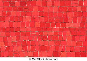 馬賽克, 紅色