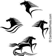 馬, 符號, 黑色