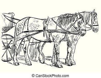 馬, 鞔具, 矢量
