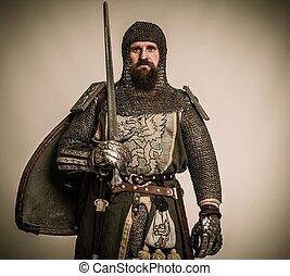 騎士, 中世紀, 劍, 盾