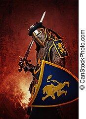 騎士, 摘要, 中世紀, 背景。