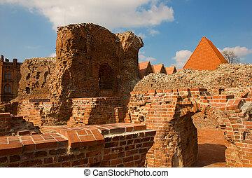 騎士, 波蘭, torun, teutonic, 城堡