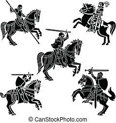 騎士, 紋章學