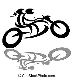 騎自行車的人, 夫婦, 摩托車
