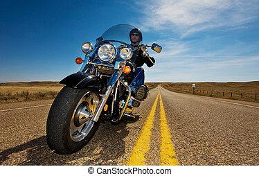 騎馬, 摩托車