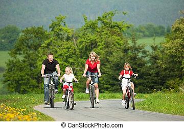 騎馬, bicycles, 家庭