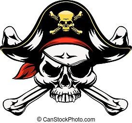 骨頭, 頭骨, 橫渡, 海盜