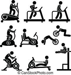 體操, 健身房, 練習, 健身