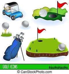 高爾夫球, 圖象