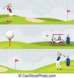 高爾夫球, 旗幟, 高爾夫球場