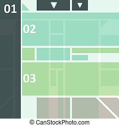 高科技, 設計, infographics
