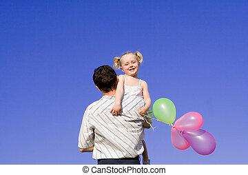 高興的家庭, 父親, 孩子
