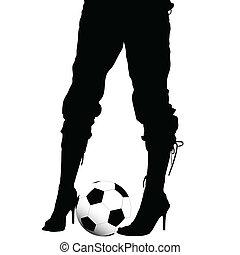 高跟鞋, 腿, 鞋子, 女性