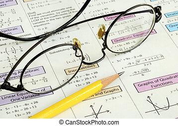 高, 鉛筆, 學校, 一些, 數學