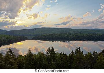 魁北克, sacacomie, 湖, 加拿大