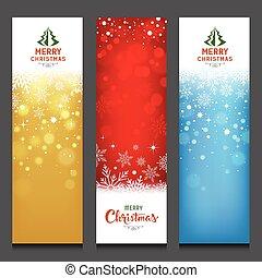 鮮艷, 垂直, 設計, 歡樂, 旗幟, 聖誕節