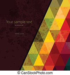 鮮艷, 摘要, 三角形, 背景, polygons., 幾何學