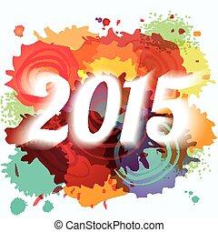 鮮艷, 摘要, 畫, 背景, 年, 2015, 新, splat