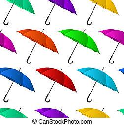 鮮艷, 背景, 傘, seamless