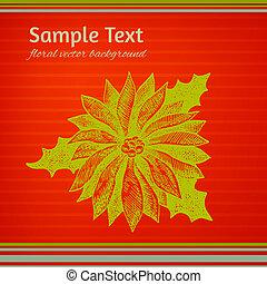 鮮艷, winterberry, 插圖, 綠色, 聖誕節, 紅色