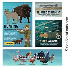 鳥, 打獵, 季節, 獵人, 動物, 軍火