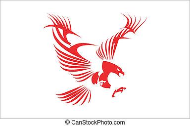 鷹, 偉大, 紅色