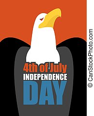 鷹, 偉大, 美國, 美國, 正文, 國家, chest., 假期, 天, 獨立