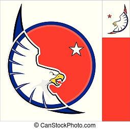 鷹, 白色圈子, 紅色