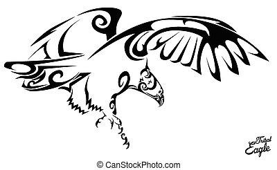 鷹, 部落