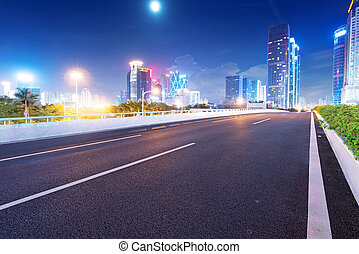 黃昏, guangdong, 街道, 瓷器, 形跡, 光