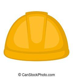 黃色, 鋼盔, 建設, 被隔离