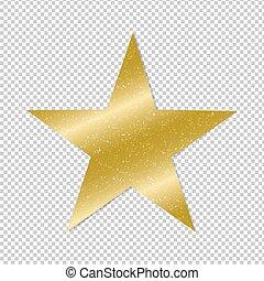 黃金, 星, 透明, 背景