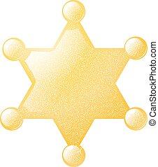 黃金, 星, 郡長, 插圖, 矢量, 背景, grunge, 白色, texture., 股票