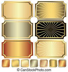 黃金, 框架, 彙整, 銀色