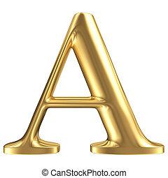 黃金, 無光油漆, 珠寶, a, 彙整, 信, 洗禮盆