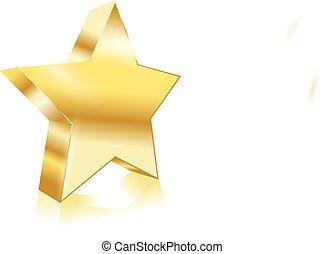 黃金, 矢量, 星, 元素